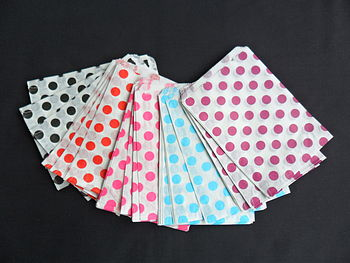 100 Polka Dot Paper Candy Sweet Bags