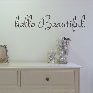 'Hello Beautiful' Wall Sticker - wall stickers