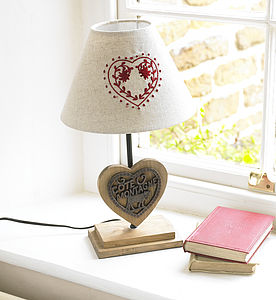 Country Heart Table Lamp - bedside lamps