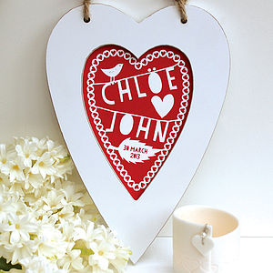 Personalised Framed Heart Print - art & pictures