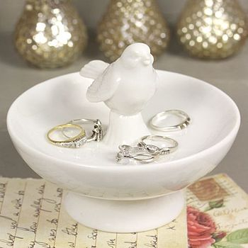 Ceramic Bird Ring Dish