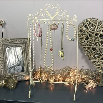 Heart Topped Jewellery Stand