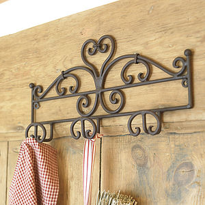 Three Hooks Heart Rack Half Price - living room