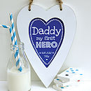 Personalised Daddy Hero Heart