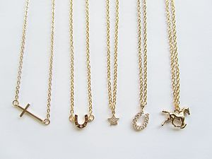 Delicate Lucky Gold Charm Necklace - necklaces & pendants