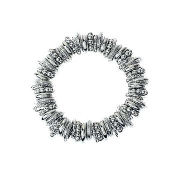 Silver Stretch Rings Bracelet