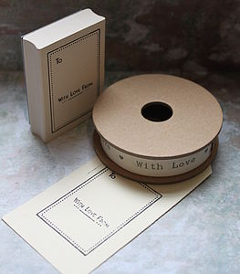 Rubber Stamp And Ribbon Set