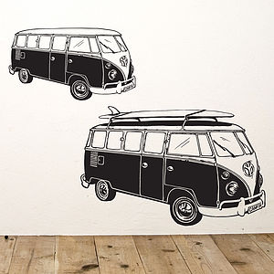 Surf Style Camper Van Wall Sticker - children's room accessories