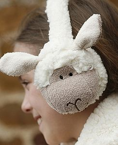 Sheepy Ear Muffs - hats, scarves & gloves