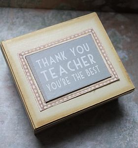 'Thank You Teacher' Gift Box - storage & organisers