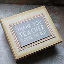 'Thank You Teacher' Gift Box