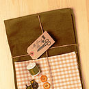 Make And Sew Baby Tractor Dungarees Kit