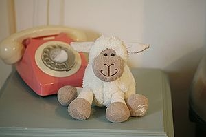 Spring Lamb Soft Toy - toys & games