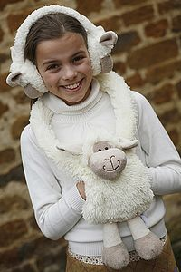Sheep Hand Muff - soft toys & dolls
