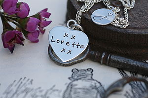 Personalised Bridesmaid Heart Necklace