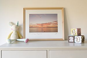 Sunrise The Day Your Baby Was Born Personalised Picture - pictures & prints for children