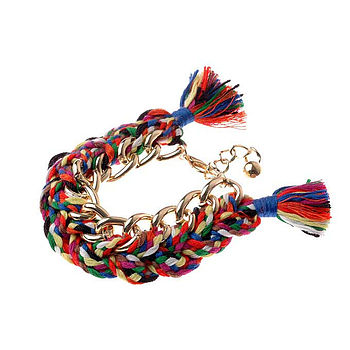 Fabric Tassle Bracelet