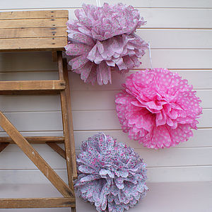 Party Or Wedding Pom Pom Decorations - outdoor decorations