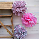 Party Or Wedding Pom Pom Decorations