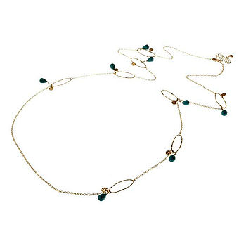 Semi Precious Link Necklace