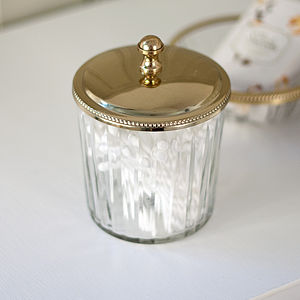 Clear Glass Storage Jar - jewellery storage & trinket boxes
