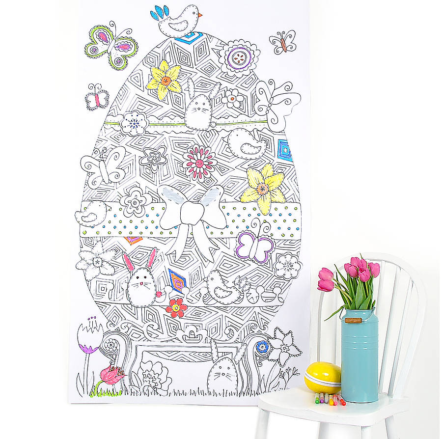 personalised colour in easter poster by so close