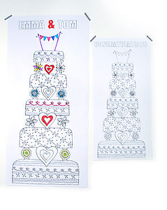 Personalised Colour In Wedding Cake Poster - outdoor decorations