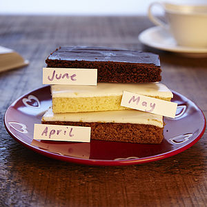 Three Month Wheat Free Cake Slice Club - gluten free food gifts