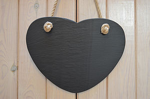 Slate Heart Memo Board - signs