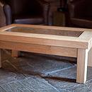 Oak Guest Book Plank Table