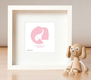 Personalised New Baby Print - paintings & canvases
