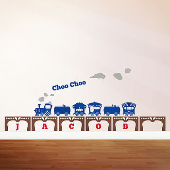 Personalised Boy's Train Wall Sticker