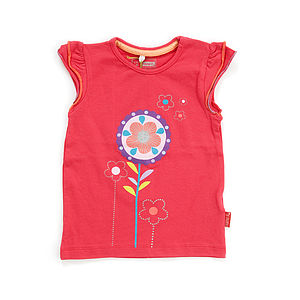 Organic Cotton Gimse Capsleeve Top - children's clothing