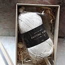Knit Your Own Baby Booties Kit