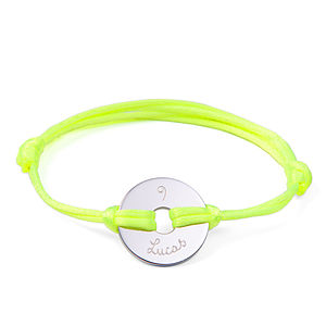 Personalised Child's Neon Open Disc Bracelet - page boy gifts