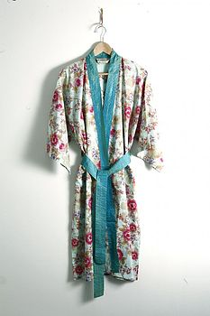 Floral Cotton Dressing Gown