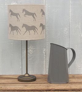 Galloping Horses Irish Linen Lampshade - lighting