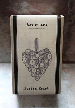 Stitch Your Own Button Heart Kit