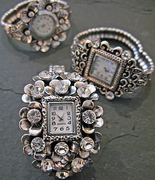 Antiqued Costume Watch