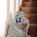 Pirate Ship Appliqued Laundry Bag