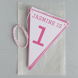 Personalised Birthday Age Bunting - baby & child