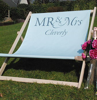 Personalised 'Mr & Mrs' Deck Chair