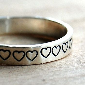 Handmade Love Heart Silver Ring
