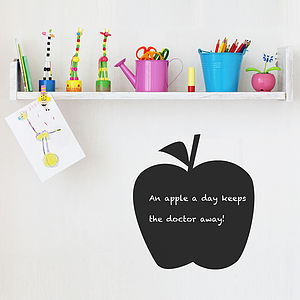 Apple Chalkboard Wall Sticker - bedroom