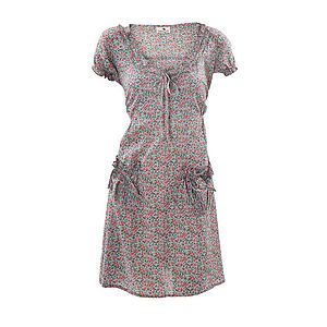 Floral Cotton Tunic Dress - women's fashion