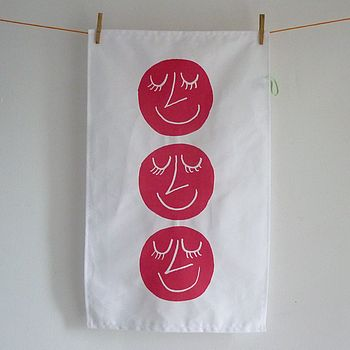 Happy Heads Tea Towel