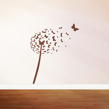 Dandelion Butterfly Wall Sticker