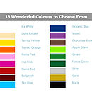 wall decal colours