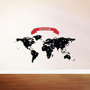 Personalised Map Wall Sticker