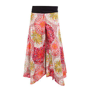 Chakra Butterfly Cotton Trousers - trousers & leggings